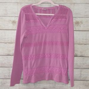 Lucky Brand Thermal Long Sleeve Top Size Large